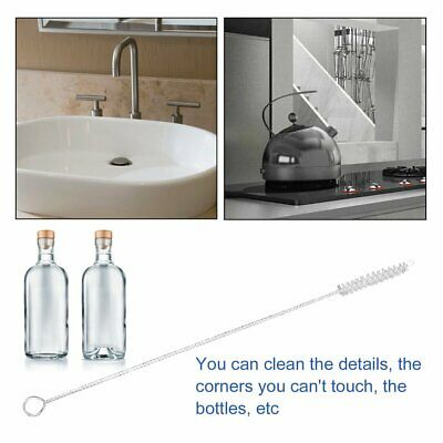 Nylon Straw Cleaners cleaning Brush for Drinking pipe stainless steel glass -U