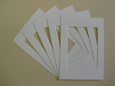Pack Of 10 WHITE Photo Picture Mount Frame Mounts All Sizes A3 A4 New