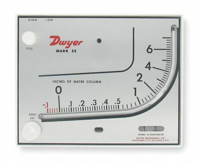 Dwyer Mark II Molded mm-80 Plastic Manometer Inclined - Vertical Scale 0 to 80