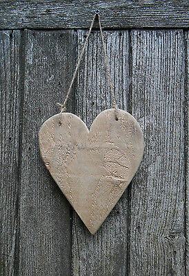 Shabby Chic Reclaimed Wood Driftwood Wooden Heart Decoration