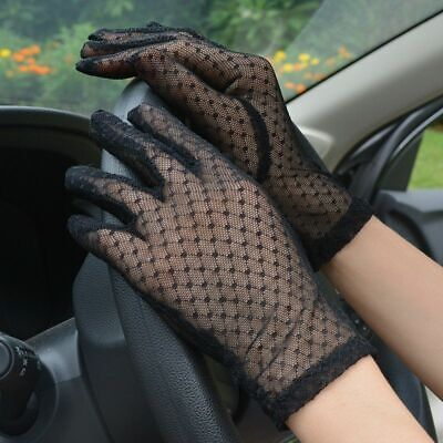 Mesh Gloves Women Lace Driving Glove Wedding Fishnet Summer Sexy Lady Floral New