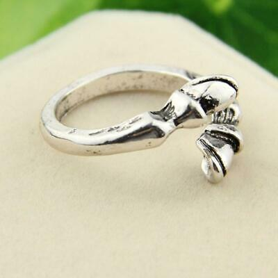 Silver  Finger Ring Women Ladies Engagement Wedding Jewelry Gift Y