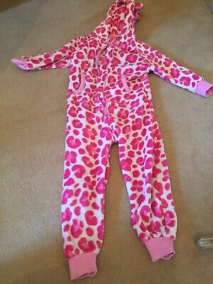 Boys Girls 1Onesie1 Kids Full Length Zip Hooded Playsuit Pyjama Age 2 - 3 Years