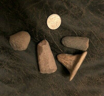 4 Ancient Pre-Columbian Clay Pottery And/Or Stone Pestles And Vessel Legs