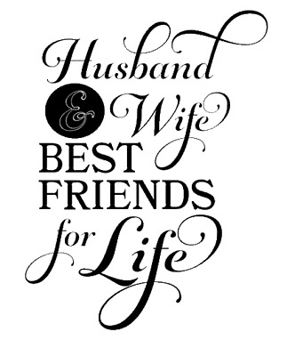 Husband and wife best friends for life Wine Bottle Vinyl Sticker