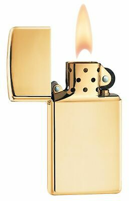 BRIQUET ZIPPO ESSENCE NEUF - SLIM BRASS POLI - Original , Tempete ,Collection