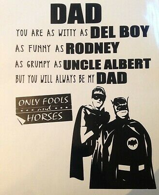 Only fools and Horses - Fathers Day -  Vinyl decal Sticker for box frames