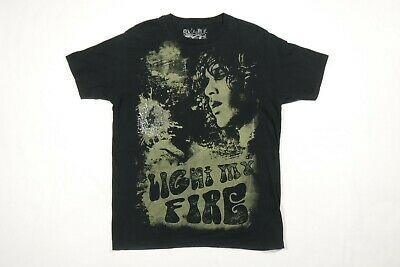 Jim Morrison The Doors Light My Fire Black Avela T-Shirt Size L