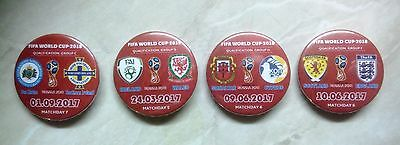 ALL MATCH BADGES EUROPEAN QUALIFIERS 2016 - 2017 for WC-2018 in Russia