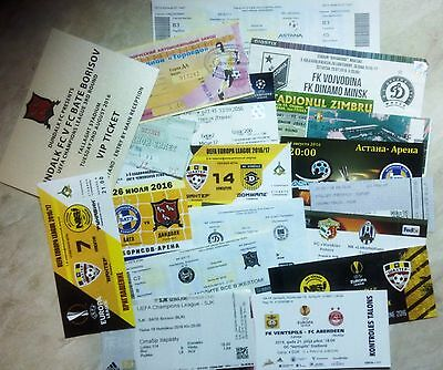 2016 / 2017 EUROCUPS Match tickets CHL & EL UPDATED APRIL 2019