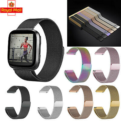 For Fitbit Versa Milanese Replacement Band Stainless Steel Metal Watch Strap UK