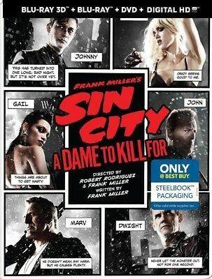 Frank Millers Sin City: A Dame to Kill For (Blu-ray/DVD) Best Buy SteelBook