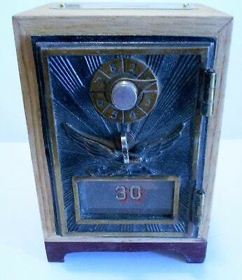 Oak Post Office Door Bank with 1906 Flying Eagle Front NEW