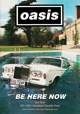 Oasis Be Here Now  Poster Print A5..A4..A3 A2 Options
