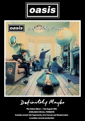 Oasis Definitely Maybe  Poster Print A5..a4..a3 A2 Options