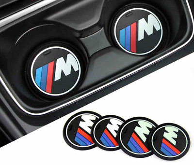 BMW M SPORT CUP HOLDER ANTI-SLIP MAT 72MM SET of 2 REDUCED***