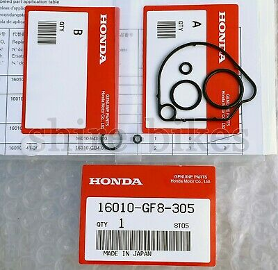 NEW Genuine Honda Carburettor Seal Kit for Honda QR50 QR 50 (16010-GF8-305)