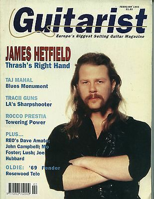 Guitarist magazine - February 1992 - James Hetfield
