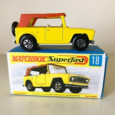 Repro Box Matchbox Superfast Nr.18 Field Car