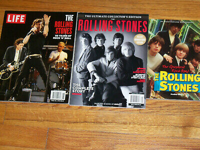 The Rolling Stones Magazine/Book Lot  Mick Jagger The Greatest Rock Band / Uncut