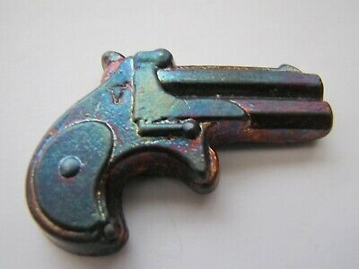 HACMint 5 oz 999+ Fine Silver DERRINGER Longhorn Hand Poured ANTIQUE ART BAR