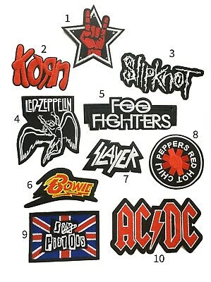 Band iron on PATCH pop rock metal punk music embroidered LED ZEPPELIN KORN ACDC