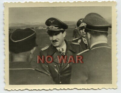 Wwii German Photo Luftwaffe Pilot General Adolf Galland The Knight Cross Holder