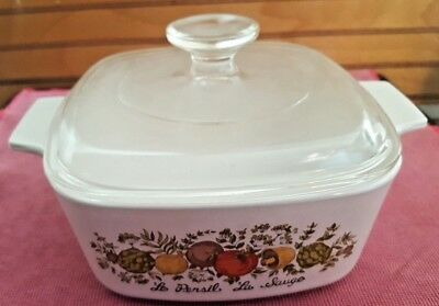 Vintage Corning Ware Spice of Life 1 1/2 quart A-1 1/x-B w/Lid