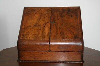 Finest Victorian Walnut Stationary Desk Top Box