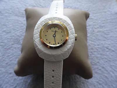 Vintage Wind Up New Old Stock Swiss Made Lucerne Ladies White Watch