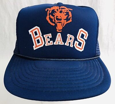 Vintage NFL Winner USA CHICAGO BEARS HAT Snapback 80's Snapback Blue NOS