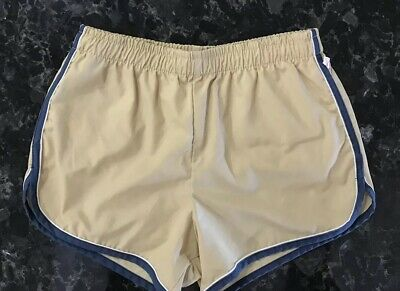 Vtg 70S Jantzen Swim Trunks Bathing Suit Shorts Usa Mens 36 Tan Blue Striped