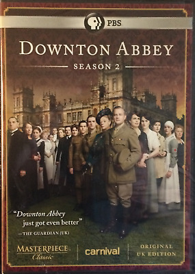 Downton Abbey: Season 2 NEW PBS Masterpiece (DVD, 2012, 3-Disc Set) Sealed