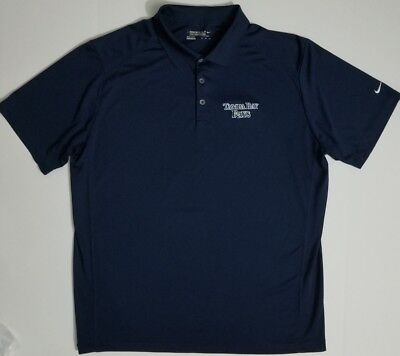 NIKE Golf Dri-Fit Tampa Bay Rays navy Polo Shirt embroidered logo SZ 2XL XXL