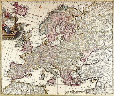 A4 Reprint of Old Maps Old European Great Britain Map 102 1