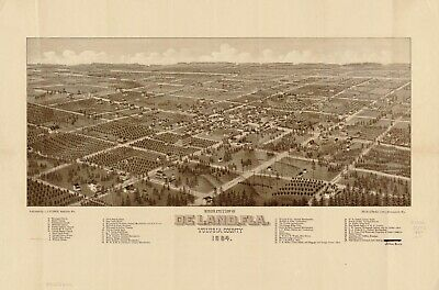 A4 Reprint of American Cities Towns States Map Volusia County Florida