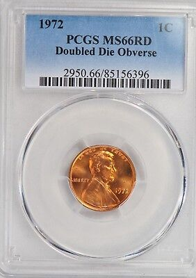 1972 Cent Pcgs Ms66Rd Doubled Die Obverse!  Fs-101 Strongest Of 1972 Ddo Cent