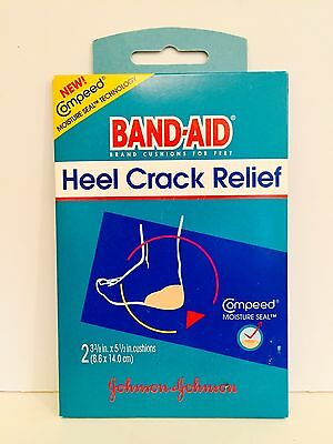 Band Aid Heel Crack Relief Cushion Twin-pack 2 Cushions Total