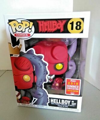 Hellboy Sdcc Comic Con Exclusive Funko Pop 2018 #18 New Suit H.b.