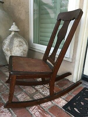 Antique Sewing Nursing Rocker Rocking Chair Circa 1920's Americana