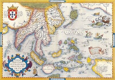 A4 Reprint of Old Maps Old Map Of Various Parts Of The World Reprint 8