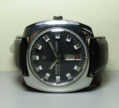 Vintage Titoni Cosmo33 Date Rotomatic Auto Swiss Mens H441 Old Antique WATCH