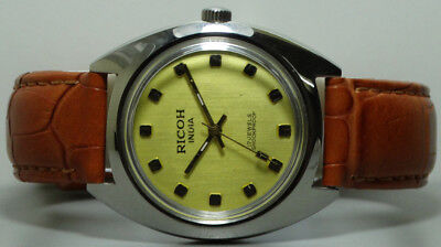 Vintage Ricoh Winding Mens Wrist Watch s792 Old Used Antique