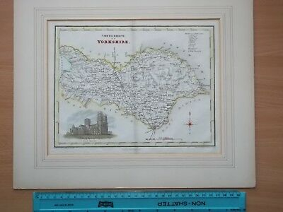 ANTIQUE YORKSHIRE MAP (late 1800s, Very Good Condition).
