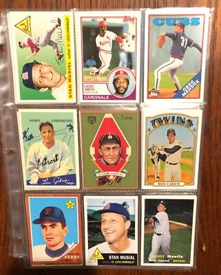 2010 2011 Topps Reprints 21 Card Lot Babe Ruth Lou Gehrig Ty Cobb Mickey Mantle