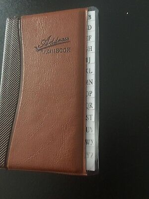 "Phone Book Address Book 4""h x 3""w x 1/4""t with alphabet letters - Pocket size"