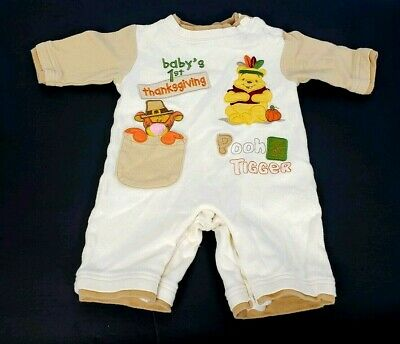 Disney Baby Winnie The Pooh First Thanksgiving One Piece Outfit Tigger 0-3 Month