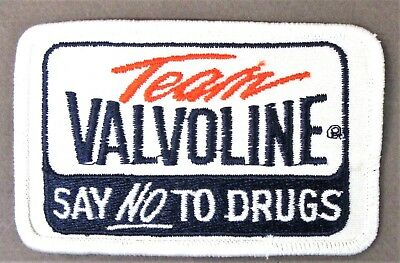 TEAM VALVOLINE NO TO DRUGS shirt jacket patch Hydroplane boat & car racing c3
