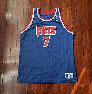 1cc9c4435 Kenny Anderson New Jersey Nets Champion Jersey Size 48 XL