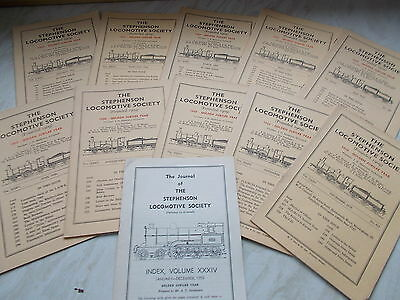 10 Editions of The Stephenson Locomotive Society For 1959 + The Index